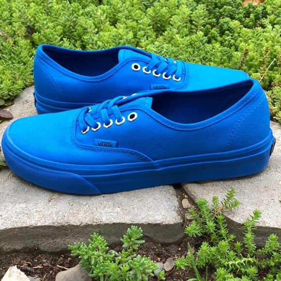 467d948698 Vans Authentic Primary Mono Imperial Blue Shoes